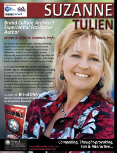 Suzanne Tulien, Speaker, Author, Brand Consultant